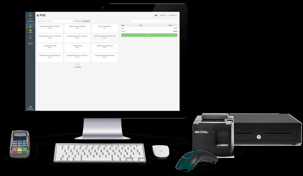 Hardware og udstyr til Servicepos
